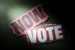Now Vote Royalty Free Stock Photo