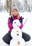Now you have a snook, dear Snowman Royalty Free Stock Image