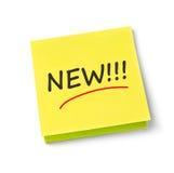 Nowa adhezyjna notatka Zdjęcie Stock