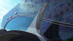 Nowa akwarium i dolfinarium fasada w Moskwa Zdjęcia Stock