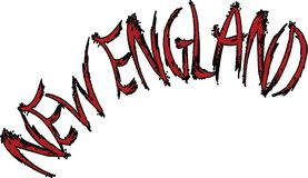 Nowa Anglia teksta znaka ilustracja Obrazy Stock