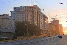 Nowa Arbat ulica, Moskwa Zdjęcie Royalty Free