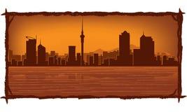 nowa Auckland linia horyzontu Zealand ilustracji