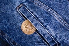 Nowa bitcoin moneta fotografia royalty free