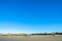Nowa Brighton plaża w Christchurch, Nowa Zelandia Zdjęcie Stock