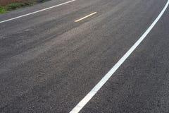 Nowa brukująca drogowa powierzchnia w ranku wcześnie Obrazy Stock
