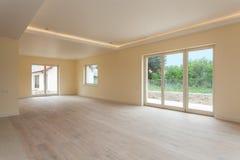 Nowa budowa, pusty pokój zdjęcia royalty free