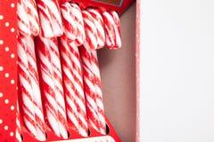 Nowa ciężkiego cukierku trzcina paskująca w czerwieni Obraz Stock
