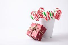 Nowa ciężkiego cukierku trzcina paskująca w czerwieni Zdjęcie Stock
