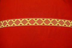 Nowa czerwona sukienna tekstura Zdjęcia Stock