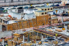 Nowa Dockside budowa w Lisbon zdjęcia stock