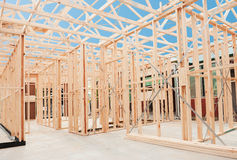 Nowa domowa budowy otoczka. Zdjęcia Stock