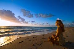 nowa dzień medytacja Zdjęcie Stock