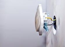 Nowa elektryczna instalacja Obraz Stock