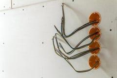 Nowa elektryczna instalacja, gniazdkowy elektryczny i Obrazy Royalty Free