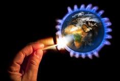 Nowa energia dla planety Obrazy Royalty Free