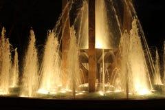 Nowa fontanna w miasta Salonica części Fotografia Stock