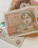 Nowa 10 funtów notatka C Zdjęcie Stock