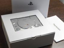 Nowa gemowa konsola Sony PlayStation w pudełku 04 07 2019 obraz stock