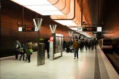 Nowa Hafencity stacja w Hamburg Fotografia Stock