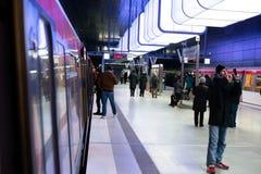 Nowa Hafencity stacja w Hamburg Zdjęcie Stock