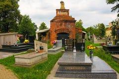 Cmentarz Mogilski Cemetery. Nowa Huta, Poland - July 9th 2018. The historic Cmentarz Mogilski Cemetery in Nowa Huta, Krakow royalty free stock photography