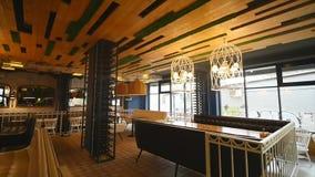 Nowa i czysta luksusowa restauracja w europejczyka stylu zbiory
