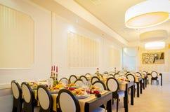 Nowa i czysta luksusowa restauracja w europejczyka stylu Fotografia Royalty Free