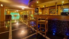Nowa i czysta luksusowa restauracja w europejczyka stylu Zdjęcie Stock