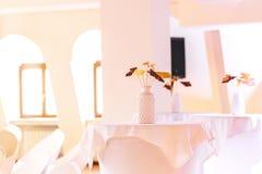 Nowa i czysta luksusowa restauracja w europejczyka stylu Obraz Stock