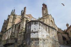 Nowa i stara katedra przy Plasencia Obraz Royalty Free