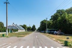 nowa, Kherson region Ukraina, Lipiec, - 01, 2017: Ñ  entral ulica Krajowej rezerwy nowa, Ukraina Fotografia Stock