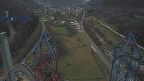 Nowa kolejowa bridżowa budowa - Stuttgart 21, Aichelberg zbiory wideo