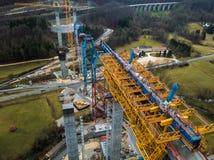 Nowa kolejowa bridżowa budowa - Stuttgart 21, Aichelberg zdjęcie royalty free