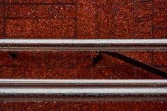 Nowa kruszcowa jaśnienie tubka z kroplami woda po deszczu obraz stock