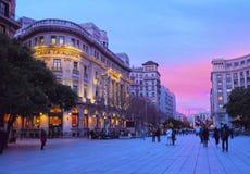 Nowa kwadrat w Barcelona Obrazy Royalty Free
