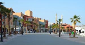 Nowa marina deptaka ulica, Egipt, Hurghada obrazy stock