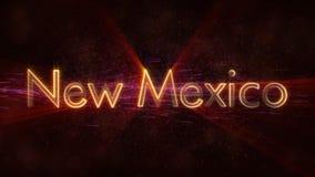 Nowa - Mexico - Błyszcząca loopingu stanu imienia teksta animacja ilustracji