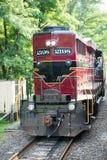 NOWA nadzieja, PA - SIERPIEŃ 11: Nowa nadziei i Ivyland sztachetowa droga jest dziedzictwo pociągu linią dla gości iść na turysty Obraz Stock