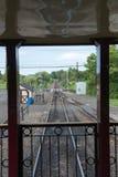 NOWA nadzieja, PA - SIERPIEŃ 11: Nowa nadziei i Ivyland sztachetowa droga jest dziedzictwo pociągu linią dla gości iść na turysty Zdjęcia Royalty Free