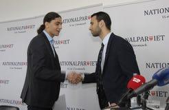 NOWA NATIONAPARTY konferencja prasowa Obraz Stock