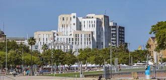Nowa nowożytna architektura w Portowym Vell okręgu Obraz Stock