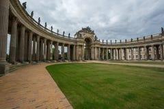 Nowa pałac communs kolumnada Potsdam zdjęcie royalty free