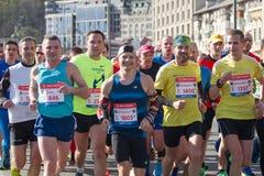 Nowa poshta Kyiv połówki maraton Obraz Royalty Free