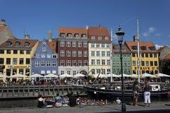 Nowa przystań, Kopenhaga, Dani Zdjęcia Stock