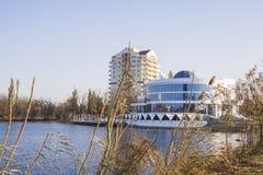 Nowa restauracja przy Jeziornym Karasun w Krasnodar Fotografia Royalty Free