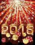 Nowa 2015 rok karta Zdjęcie Stock