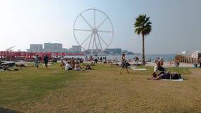 Nowa społeczeństwo plaża - Jumeirah Beach Residence JBR, Dubaj, uae zdjęcie wideo