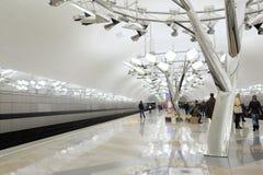 Nowa stacja metru Troparevo, ostatnio otwierający Obrazy Stock