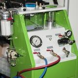 Nowa stacja paliwowa dla samochodu powietrza conditioners wyposażenia dla samochodu, remontowa klimatów systemów usługa obrazy royalty free